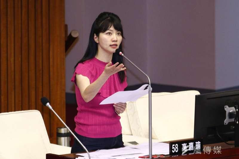 民進黨將在港湖區提名市議員高嘉瑜。(資料照片,蔡親傑攝)