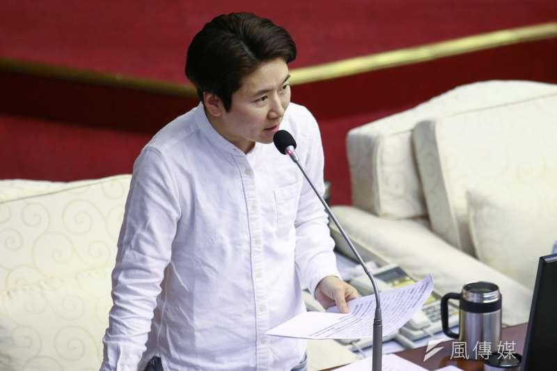 20190606-台北市議員許家蓓6日至市議會作市政質詢。(蔡親傑攝)
