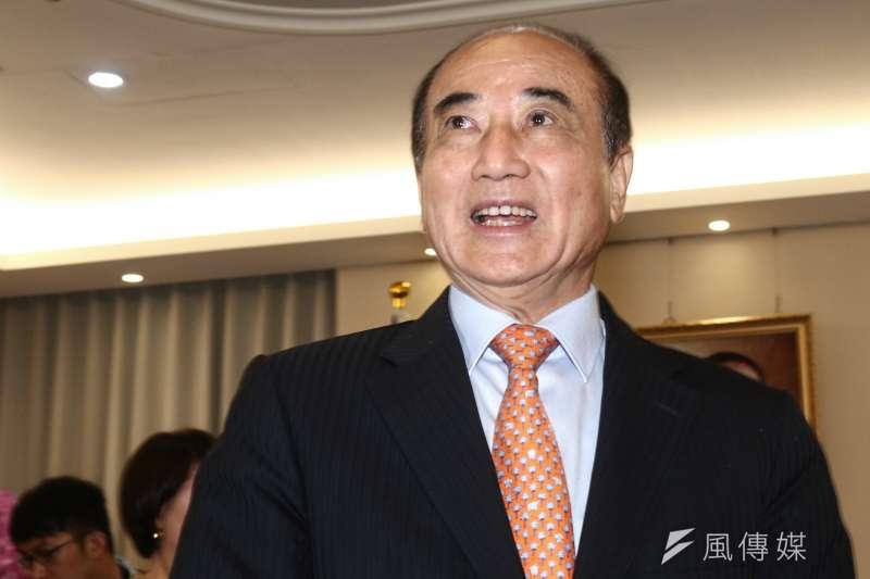 20190606-國民黨五人小組6日拜訪前立法院長王金平,王金平並於會後發表談話。(蔡親傑攝)
