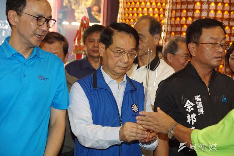 國民黨推代理主席,新竹市出身的中常委呂學樟,還打電話向民進黨團總召柯建銘詢問,推舉代理主席的細節一事。(盧逸峰攝)