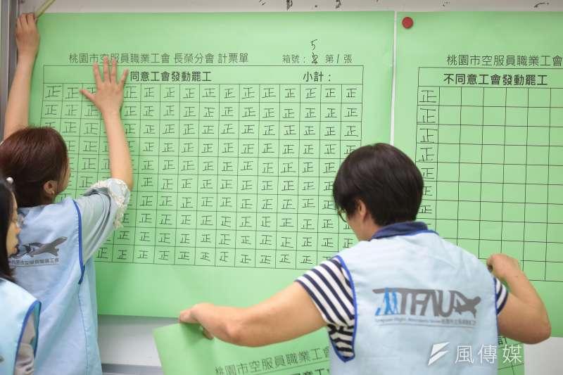 20190607-長榮空服員罷工投票7日進行開票。(顏麟宇攝)