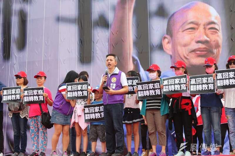 20190608-安定力量黨主席孫繼正8日出席花蓮「決戰2020,贏回台灣」造勢活動。(顏麟宇攝)