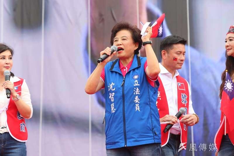 20190608-國民黨立委沈智慧8日出席花蓮「決戰2020,贏回台灣」造勢活動。(顏麟宇攝)