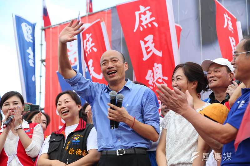 高雄市長韓國瑜8日出席花蓮「決戰2020,贏回台灣」造勢活動。(資料照,顏麟宇攝)