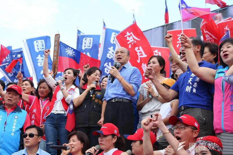 高雄市長韓國瑜8日出席花蓮「決戰2020,贏回台灣」造勢活動,被高雄市議員質疑是放下防疫等市政不管。(資料照,顏麟宇攝)