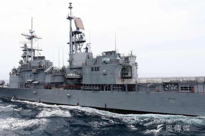 海軍近日傳出4艘紀德級艦中的某艘,發生官兵在船上交歡情形,社會譁然。圖為紀德級艦示意圖,與新聞個案無關。(資料照,蘇仲泓攝)