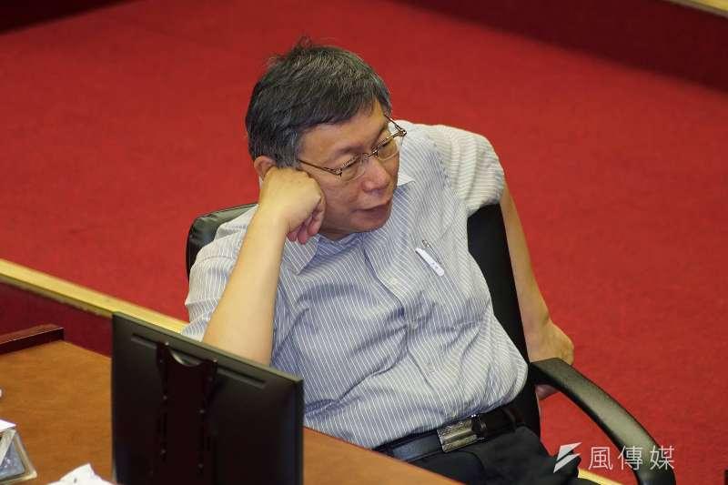 藍綠初選大亂鬥,台北市長柯文哲成為關鍵變數。(盧逸峰攝)