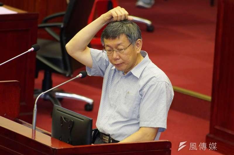 20190610-台北市長柯文哲列席市政總質詢。(盧逸峰攝)