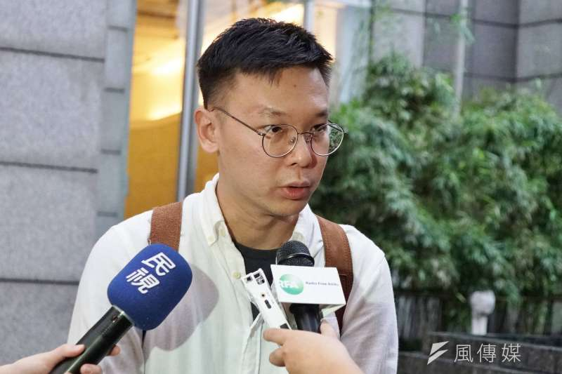 20190610-學運領袖林飛帆出席聲援香港活動。(盧逸峰攝)