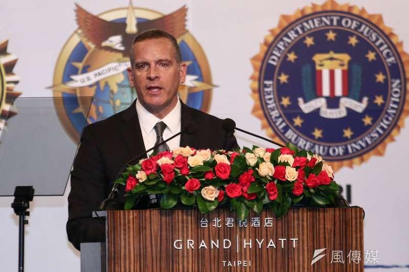 美國聯邦調查局(FBI)助理副局長阿貝。(蔡親傑攝)