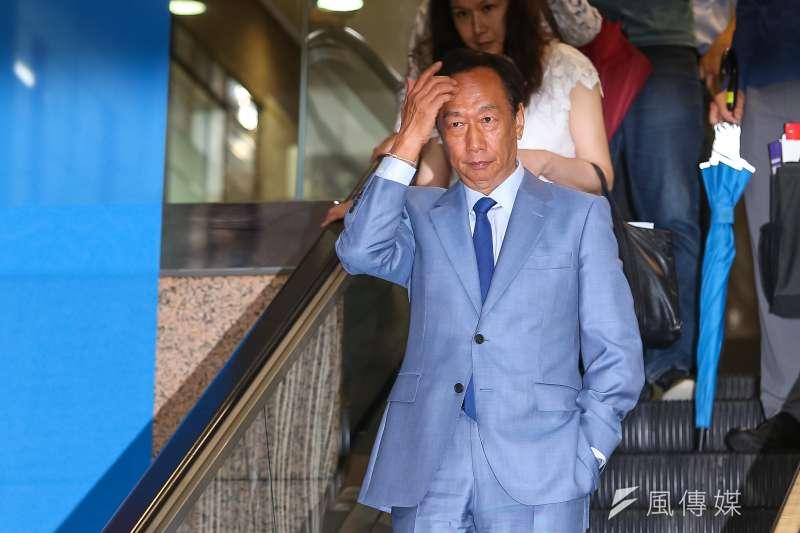 鴻海董事長郭台銘出席「國民黨總統選舉參加提名初選同志座談會」。(顏麟宇攝)