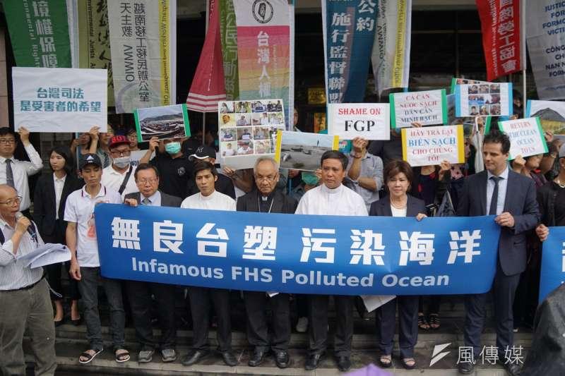 今年6月,近8000名越南中部省份居民委託台灣律師,向台塑越鋼提出告訴,要求越鋼為2016年的海洋環境污染事件做出賠償。(資料照,盧逸峰攝)