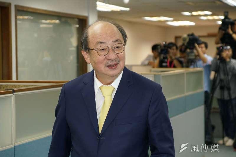 20190612-立委柯建銘出席民進黨中常會。(盧逸峰攝)
