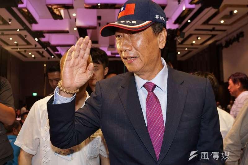 鴻海董事長郭台銘(見圖)近日將與前立法院長王金平會面。(資料照,盧逸峰攝)