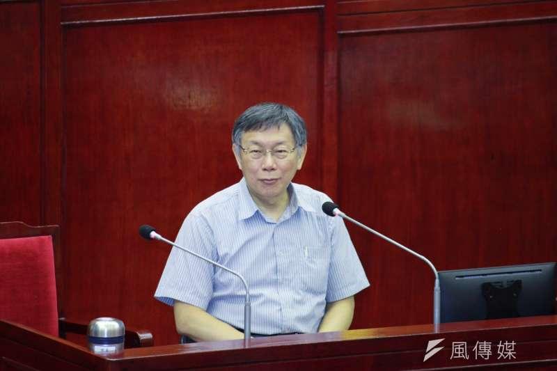 20190613_台北市長柯文哲在議會備詢。微笑。(方炳超攝)