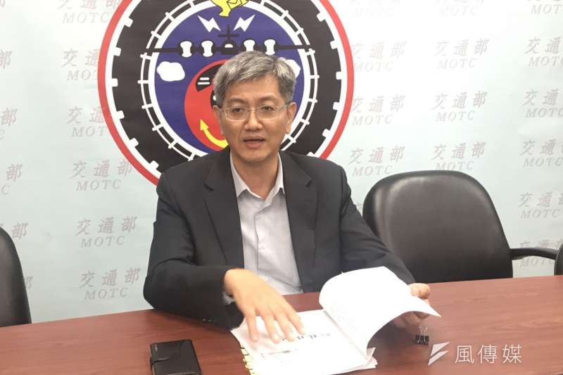 交通部航政司司長葉協隆認為,美中貿易戰開打至今,對台灣產業鏈帶來不少正面效益。(廖羿雯攝)