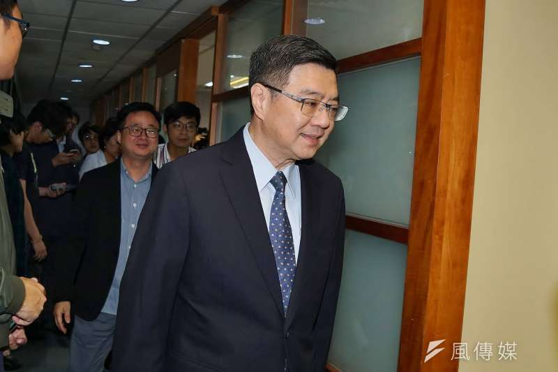 20190613-民進黨主席卓榮泰出席民調結果記者會。(盧逸峰攝)