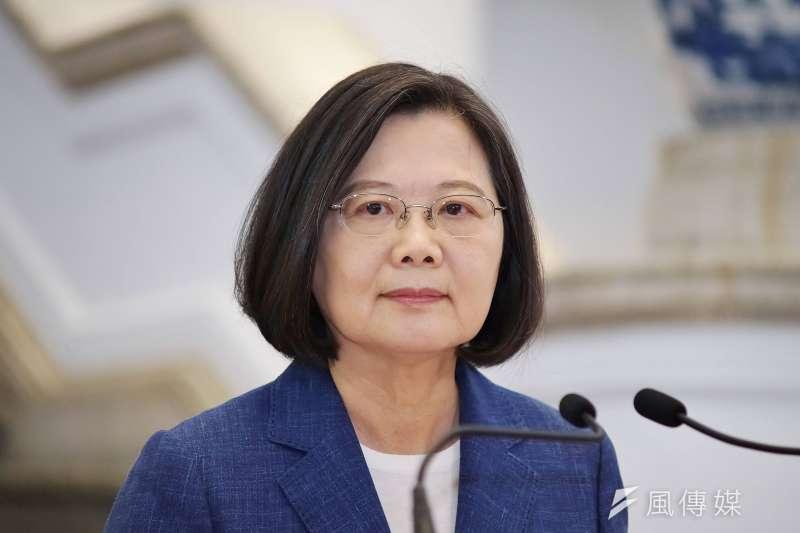 20190613-總統蔡英文於府內發表談話。(盧逸峰攝)