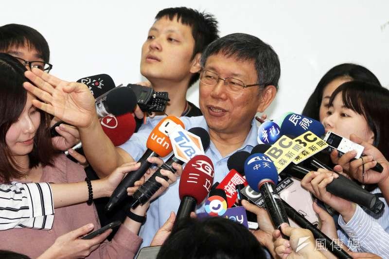 台北市長柯文哲回應民進黨總統初選問題。(資料照片,蘇仲泓攝)