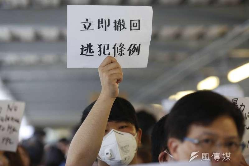 香港反送中示威,特首林鄭月娥宣布暫緩修法。(新新聞郭晉瑋攝)