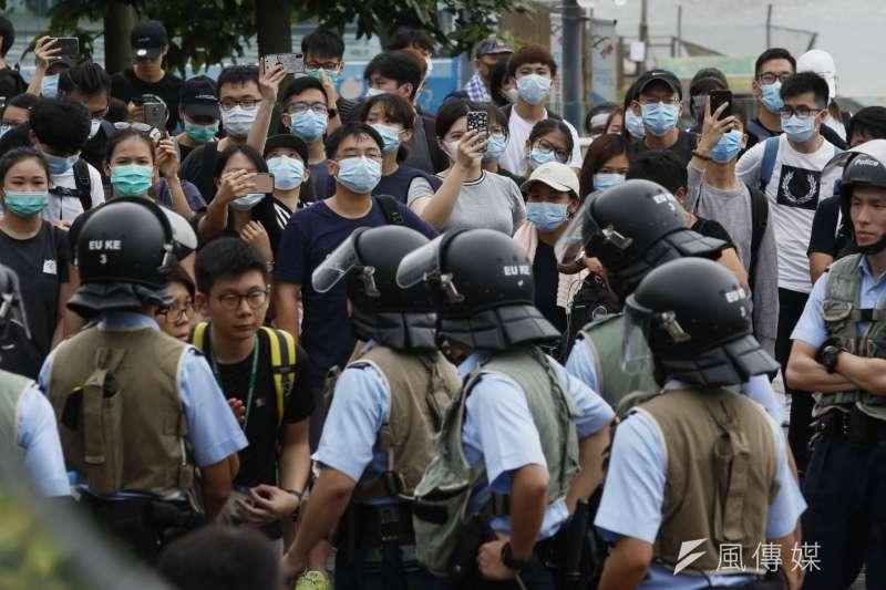 20190614-香港金鐘立法會前,不少民眾13日仍持續進行反送中抗爭活動。送中條例、逃犯條例。(新新聞郭晉瑋攝)