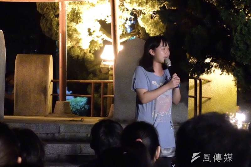 20190614-台大反送中之夜,台大法律系系學會長黃脩閔。(謝孟穎攝)