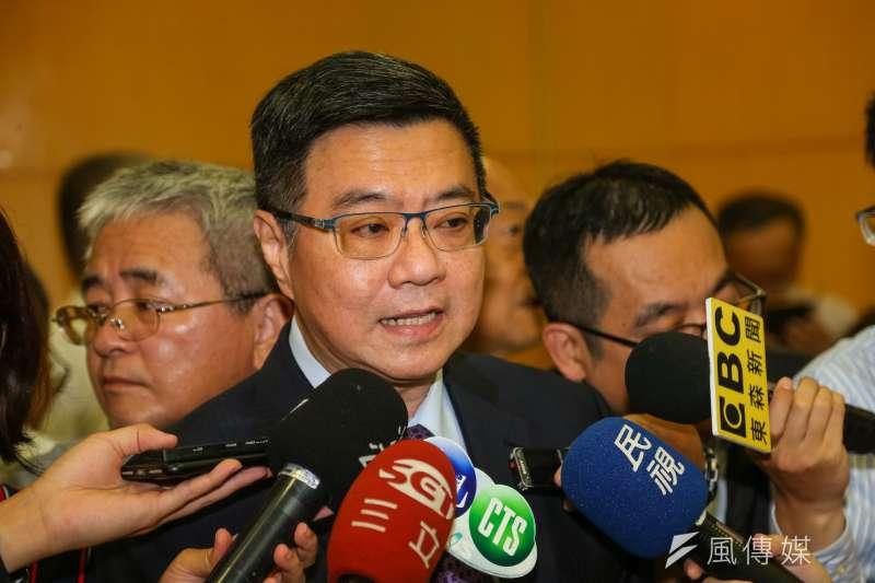 20190614-民進黨主席卓榮泰14日出席「姚嘉文追夢記」新書出版記者會。(顏麟宇攝)