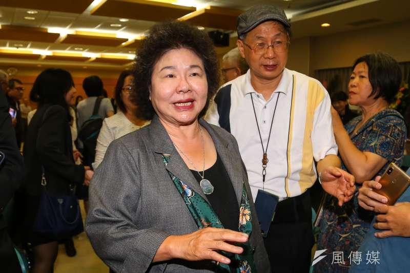 前總統陳水扁20日表示,總統府秘書長陳菊(前)應為私菸案辭官負責,才是對總統蔡英文連任的最有力輔選。(資料照,顏麟宇攝)