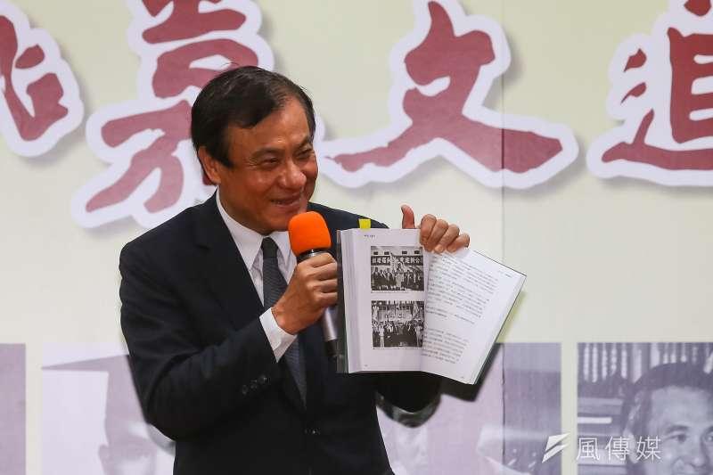 20190614-立法院長蘇嘉全14日出席「姚嘉文追夢記」新書出版記者會。(顏麟宇攝)