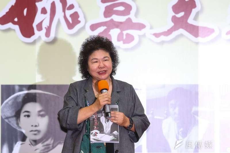 20190614-總統府秘書長陳菊14日出席「姚嘉文追夢記」新書出版記者會。(顏麟宇攝)