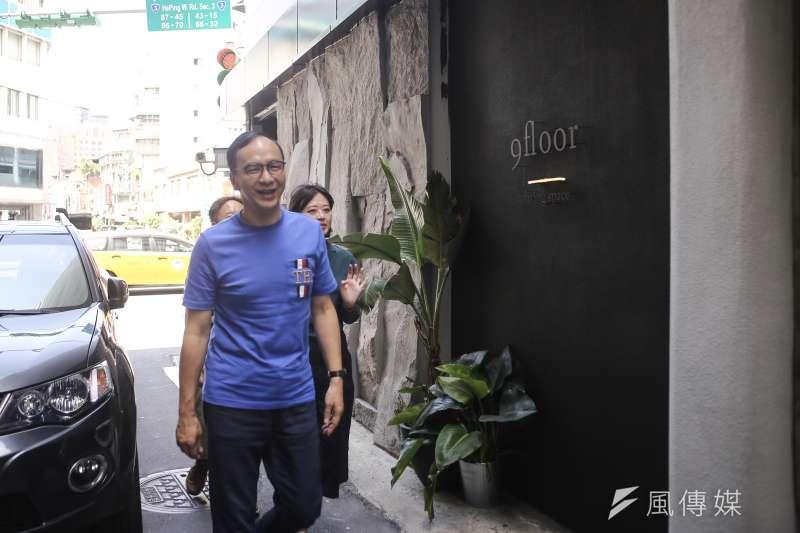 20190615-前新北市長朱立倫參訪萬華「玖樓」共生公寓。(陳品佑攝)