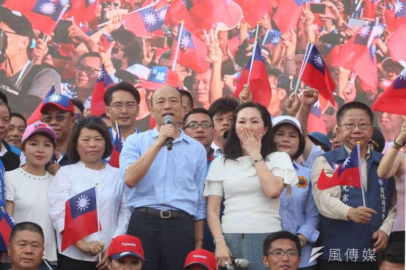 高雄市長韓國瑜被香港反送中「煞到」,却澆不熄韓流的熱情,主要原因在於這幾年台灣的民怨在蔡政府不在北京。(新新聞,柯承惠攝)