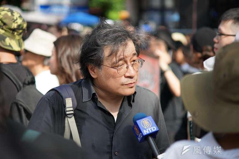 20190616-吳叡人參加「撐香港,反送中」集會活動。(盧逸峰攝)