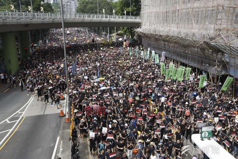 20190616_香港16日下午「反送中」大遊行。(新新聞郭晉瑋攝)