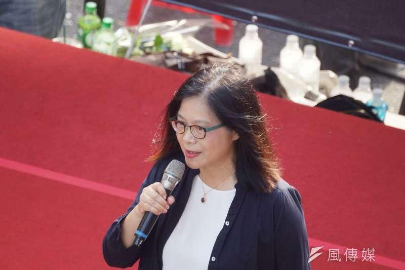 20190616-「撐香港,反送中」集會活動,立委管碧玲出席。(盧逸峰攝)
