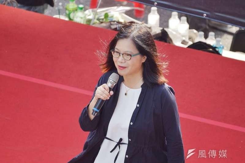 20190616-「撐香港,反送中」集會活動,立委管碧玲出席聲援。(盧逸峰攝)