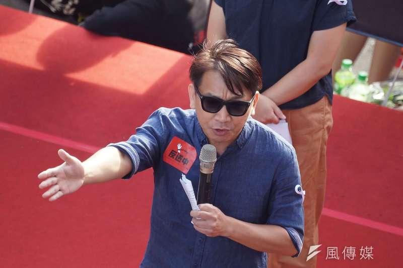 20190616-「撐香港,反送中」集會活動,立委徐永明出席聲援。(盧逸峰攝)
