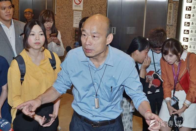 關於韓國瑜,作者認為,親中態度更是他與台灣主流民意火車強烈對撞關鍵,他最大的問題是自己。(資料照,盧逸峰攝)