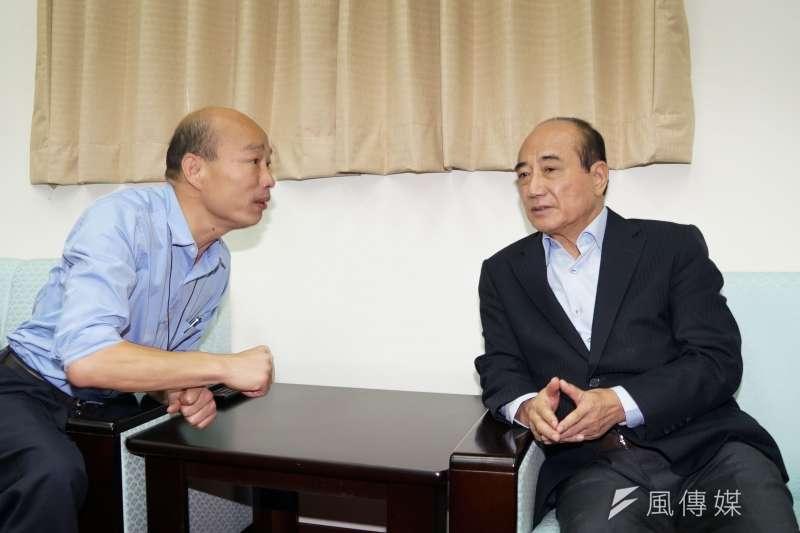 20190617-高雄市長韓國瑜拜會王金平。(盧逸峰攝)