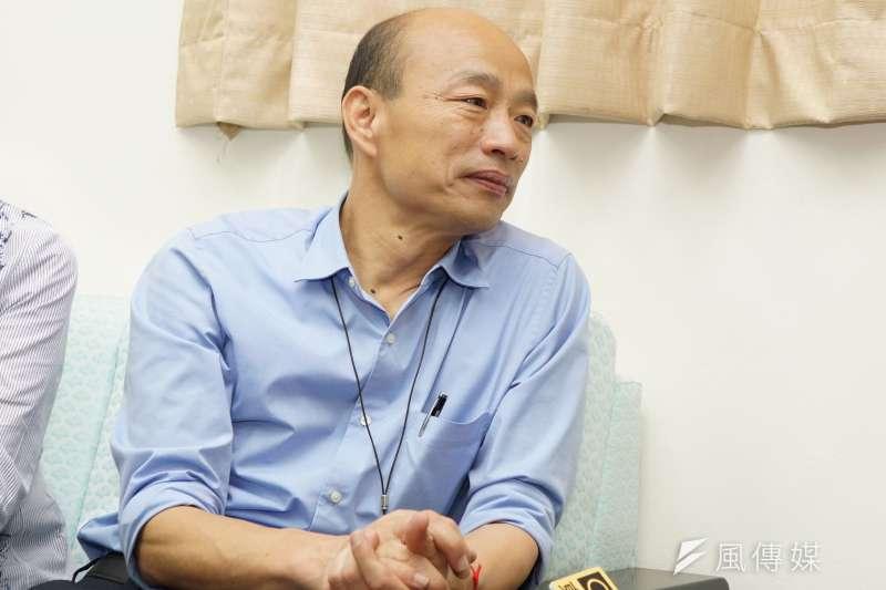 被質疑動用太多第二預備金,高雄市長韓國瑜(見圖)18日轟民進黨是兩套標準。(資料照,盧逸峰攝)