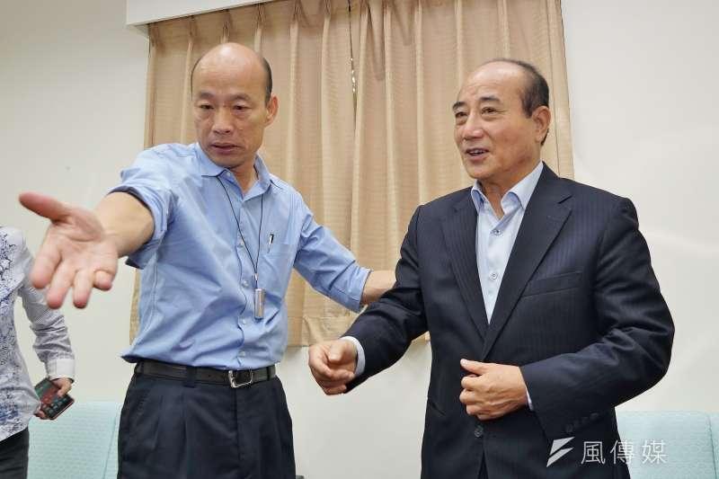 20190617-高雄市長韓國瑜拜會王金平前院長。(盧逸峰攝)
