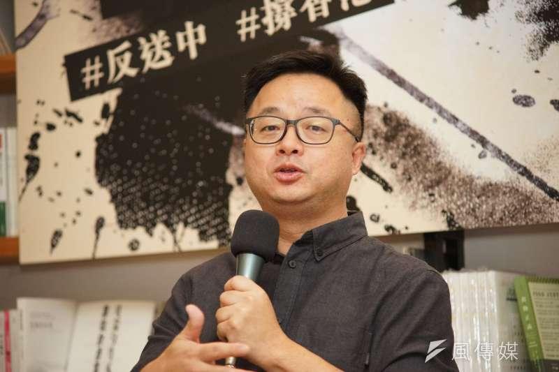 民進黨秘書長羅文嘉18日表示,初選已經結束了,「內戰打了3個月,還要打下去嗎?」(盧逸峰攝)