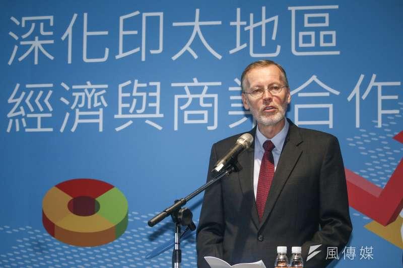 2019年6月18日,AIT處長酈英傑18日出席「深化印太地區經濟與商業合作論壇」。(蔡親傑攝)