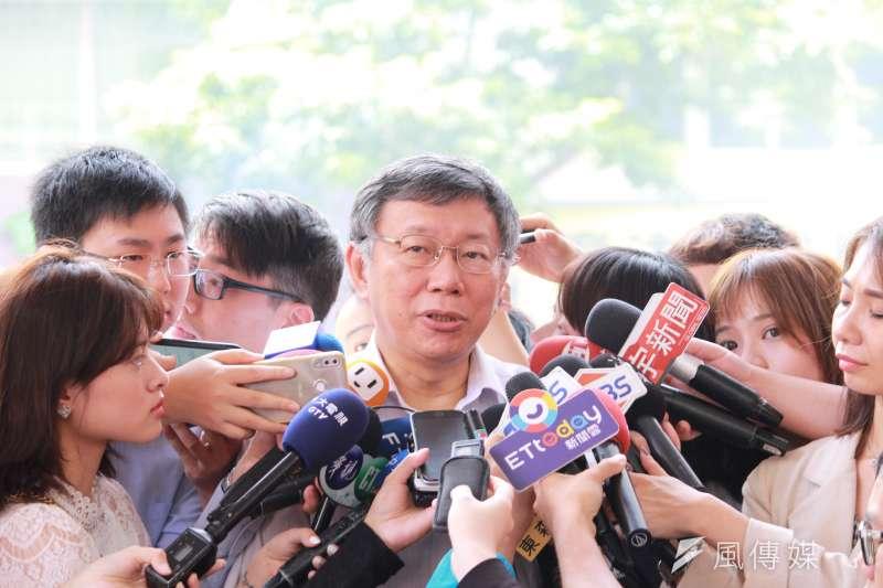 針對午後將請假前往雲林,台北市長柯文哲18日表示,以後平日離開台北市的行程還是少排。(方炳超攝)