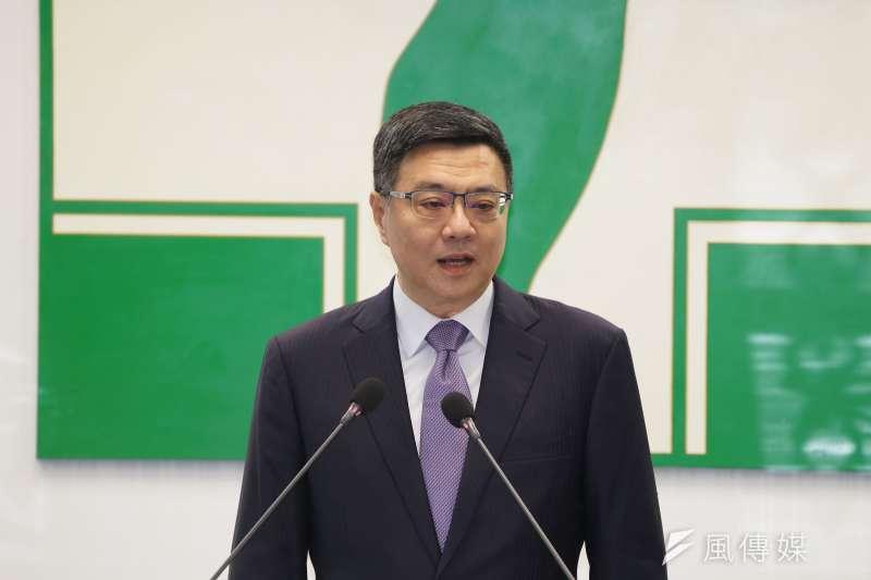 20190619-民進黨主席卓榮泰出席中執會。(盧逸峰攝)
