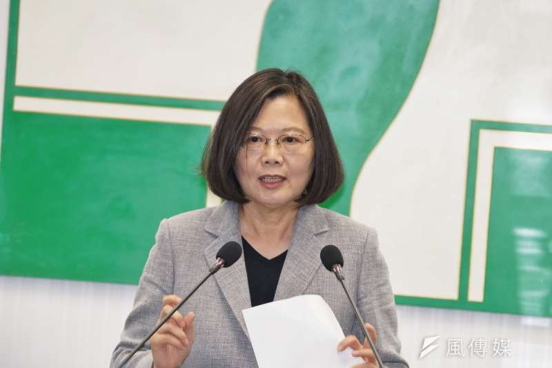 針對「中共代理人」修法遭國民黨質疑是為了選舉,總統蔡英文說,這是很嚴肅的國家安全議題。(資料照,盧逸峰攝)
