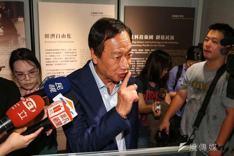 20190619-鴻海董事長郭台銘19日參訪孫運璿科技人文紀念館。(顏麟宇攝)