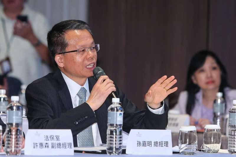 20190620-長榮航空總經理孫嘉明20日出席長榮航空勞資爭議正式協商會議。(顏麟宇攝)