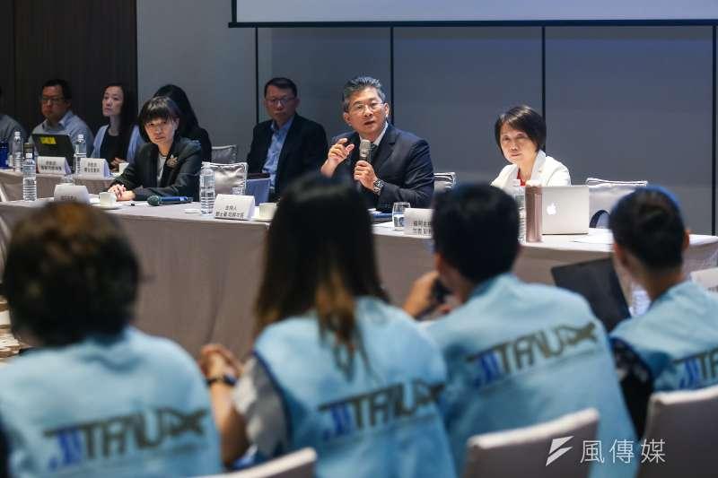 20190620-勞動部次長劉士豪(中)20日出席主持長榮航空勞資爭議正式協商會議。(顏麟宇攝)