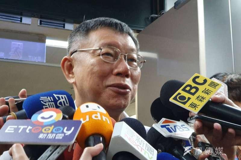 對於媒體報導陳雨鑫居中聯繫「白色聯盟」組黨事宜,台北市長柯文哲(見圖)20日表示,印象中陳雨鑫沒對他講過這個。(方炳超攝)